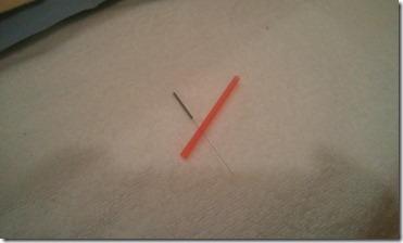 鍼治療用の鍼と鍼管