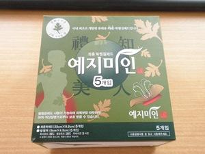 韓国土産のよもぎ蒸しパッド